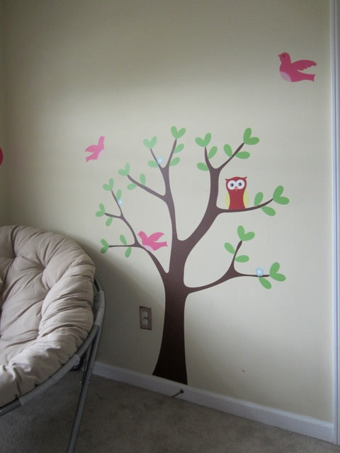 nature wall decal mural. nature wall decal sticker. animal wall decal. animal wall sticker.