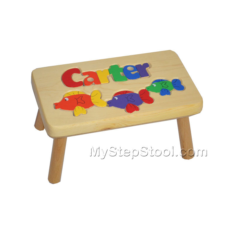 A Fish Puzzle Kids Step Stool