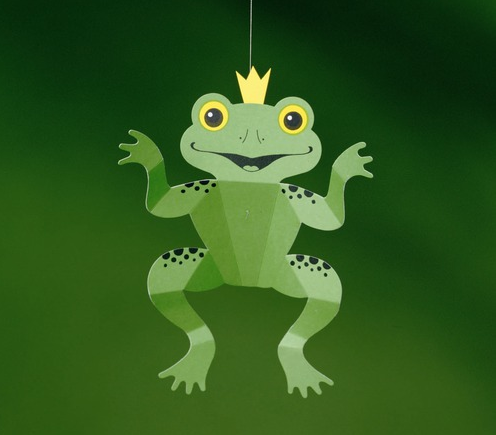 Flensted frog mobile for over a baby's crib at AllModern