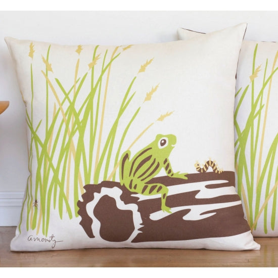 Frog Floor Pillow for a Nursery, Kids Room, or Playroom