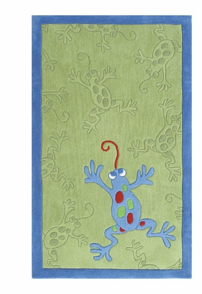 Frog rug for a baby's room at Rosenberry Rooms