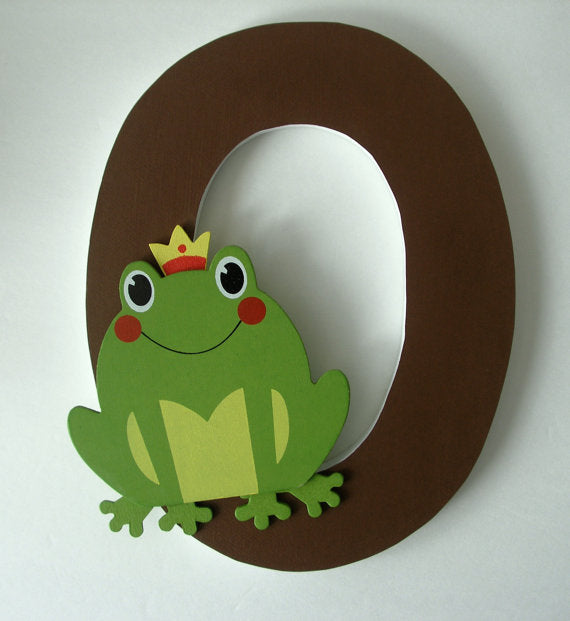 Frog wooden wall letters from Etsy seller LetterLuxe