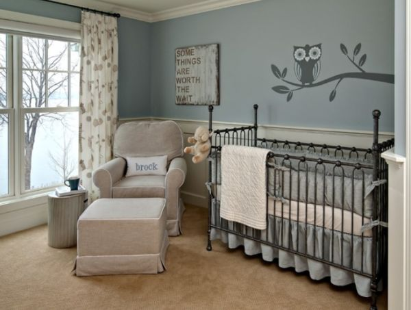 Grey and Blue Nursery