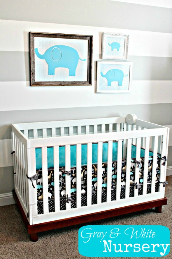 Grey and Turquoise Nursery