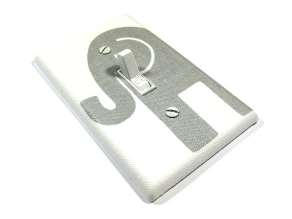 Gray Elephant Light Switch Cover