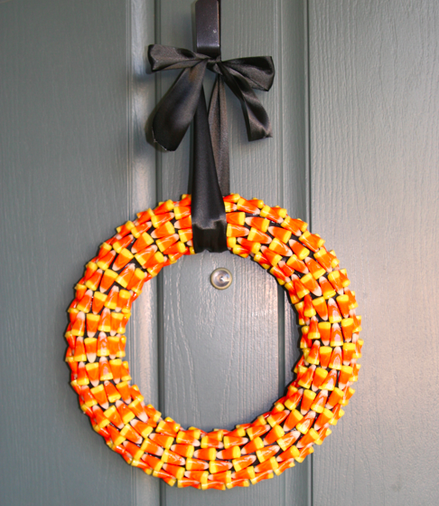 Make a Candy Corn Wreath - How to from JellyBean Junkyard