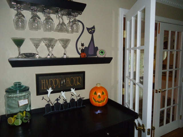 halloween cat wall decal. halloween cat wall sticker. halloween decor