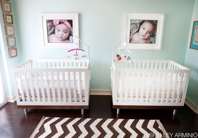Modern Neutral Nursery for Twins from Belle Maison