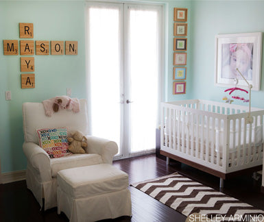 The Nursing Chair in the Twins Room from Belle Maison