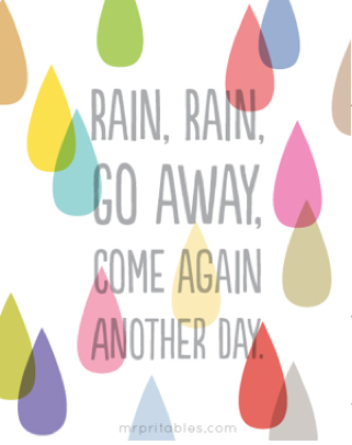 Rain Rain Go Away Poster for a Nursery or Kid's Room by Mr. Printables