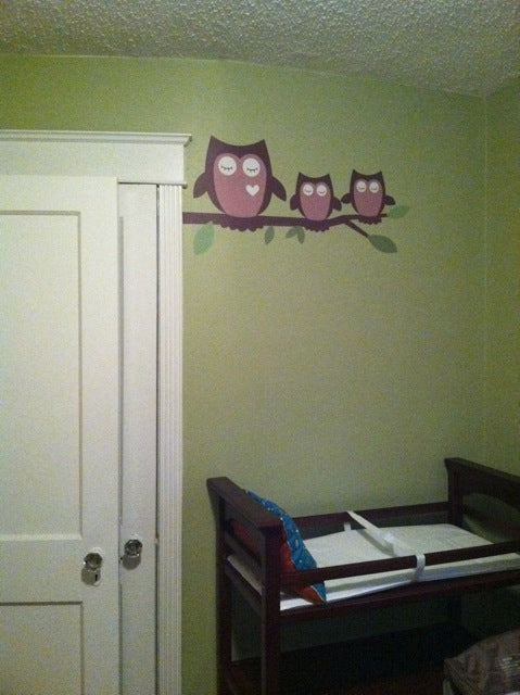 owls wall decal. owl wall stickers. wall decor.