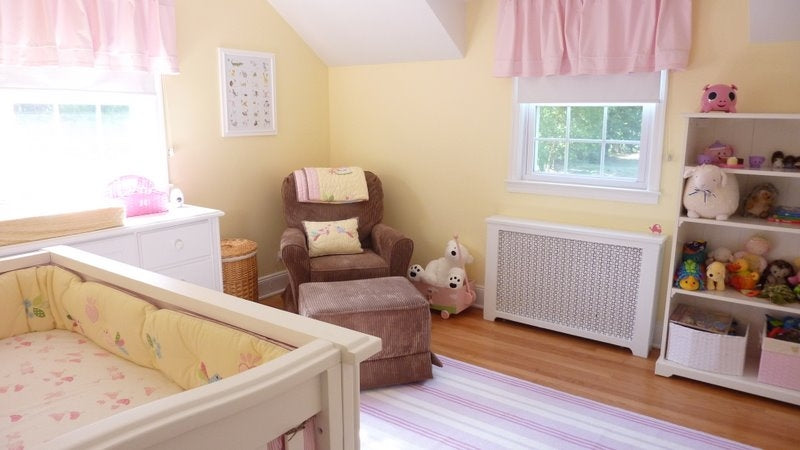 Pale Pink & Yellow Baby Nursery