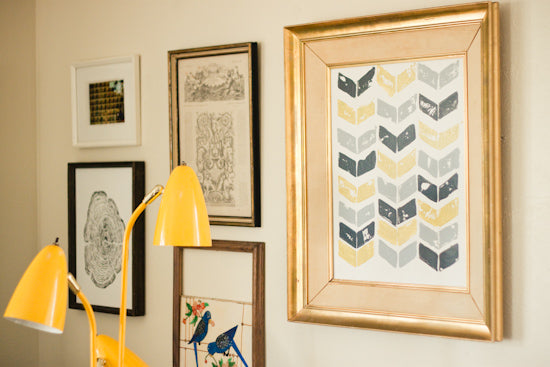 Potato Stamp Chevron Wall Art