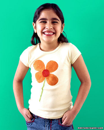 Potato Stamp Shirt Craft Idea from Martha Stewart
