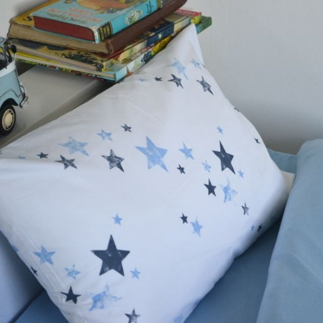 Potato Stamp Stars Organic Kids Bedding