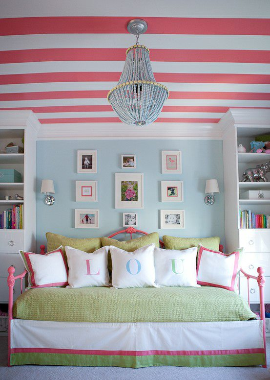 stripes.ceiling.room design
