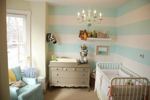 nursery decor. stripes.