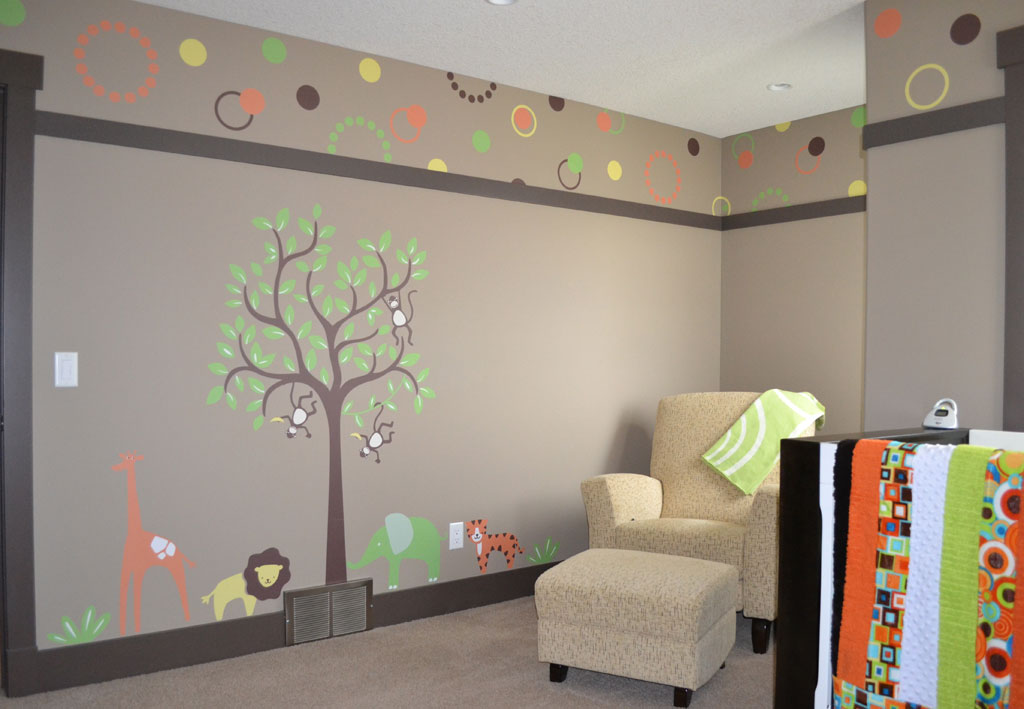 weeDECOR Whimsical Tree Wall Decal in a Neutral Baby Room