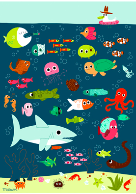 Under the Sea Nursery Poster