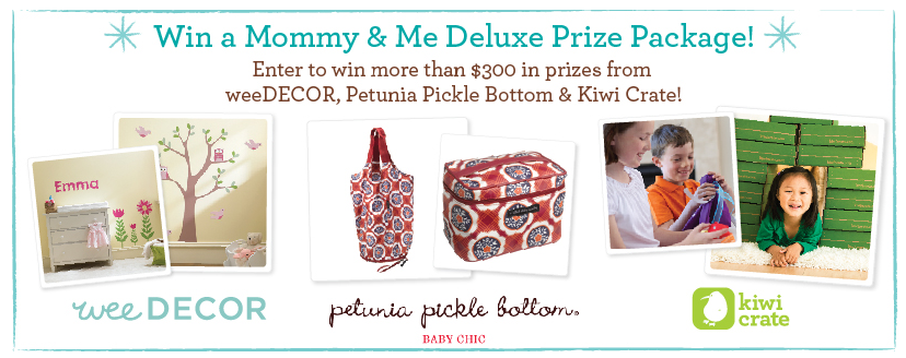 Win prizes from weeDECOR, Petunia Pickle Bottom and Kiwi Crate