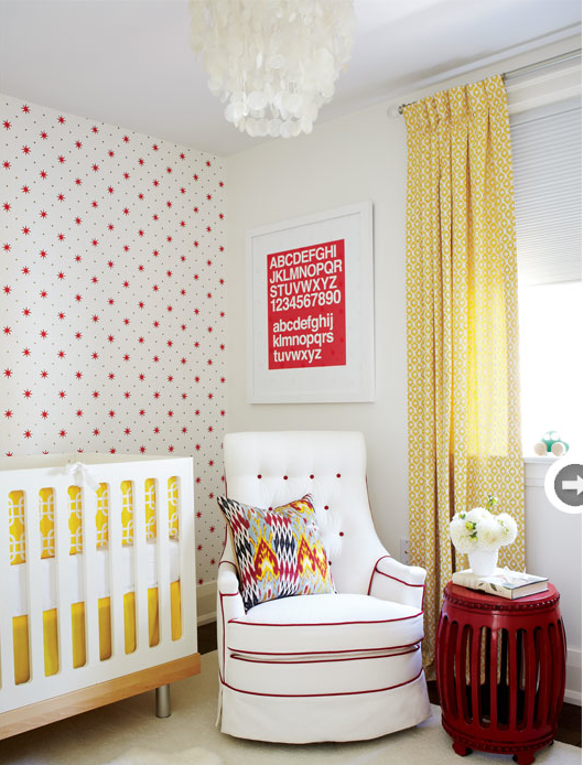 Yellow and Red Baby Nursery