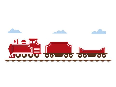 Classic Train Engine Wall Decal