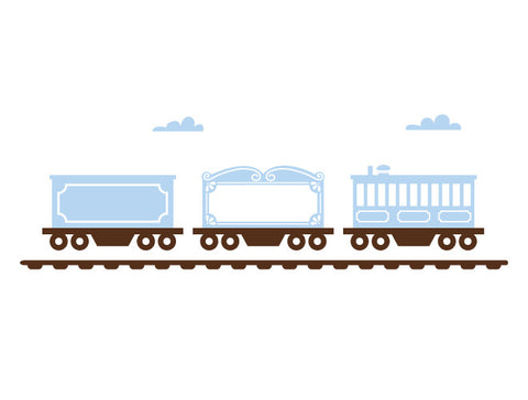 Classic Train Cars Wall Decal