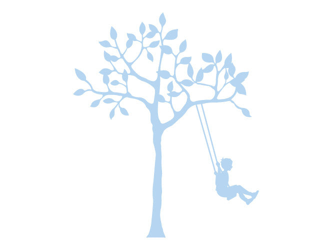 Tree and Boy on Swing Wall Decal