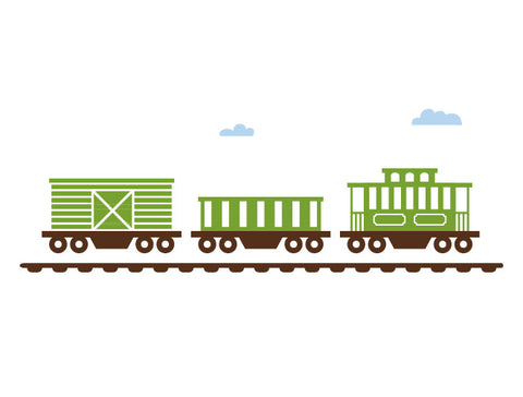 Classic Train Caboose Wall Decal