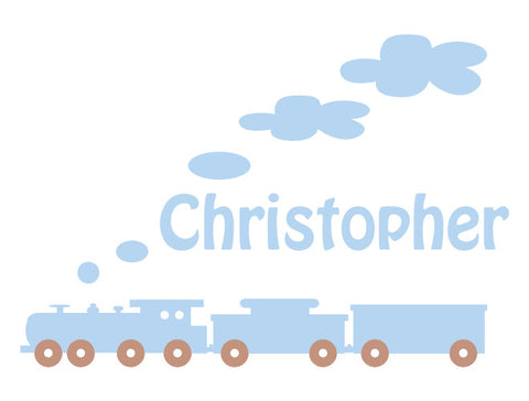 Premium Personalized Train Wall Decal