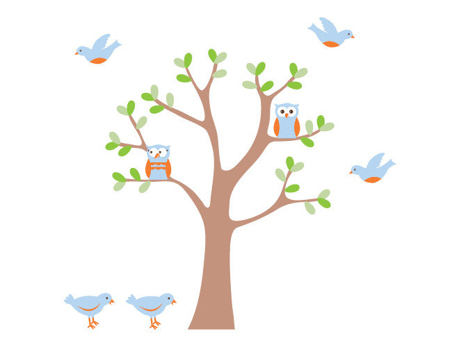 Owl Tree Wall Decal Mural