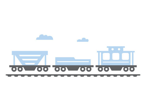 Modern Train Caboose Wall Decal