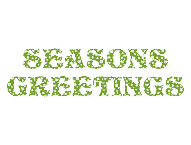 Seasons Greetings Wall Decal
