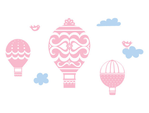 Hot Air Balloon Wall Decal Mural