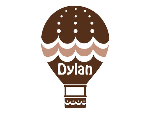Personalized Hot Air Balloon Wall Decal