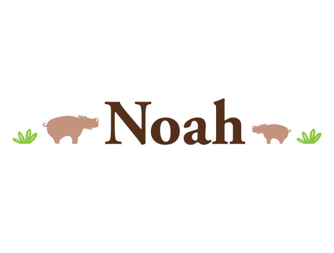 Personalized Hippos Wall Decal