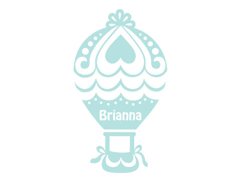 Personalized Hot Air Balloon Wall Decal - Girl