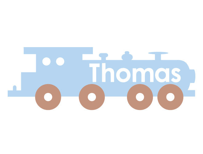 Personalized Train Wall Decal