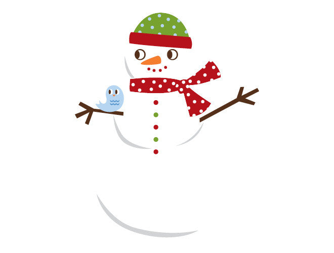 Snowgirl Wall Decal