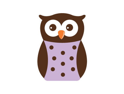 Polka Dot Owl Wall Decal