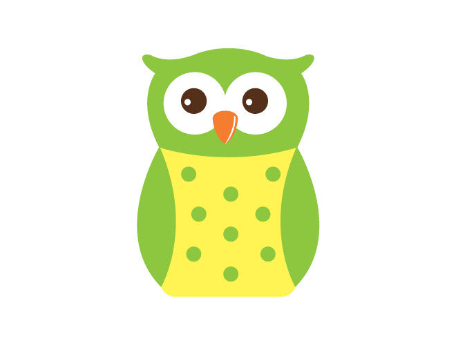 Polka Dot Owl Wall Decal – weeDECOR