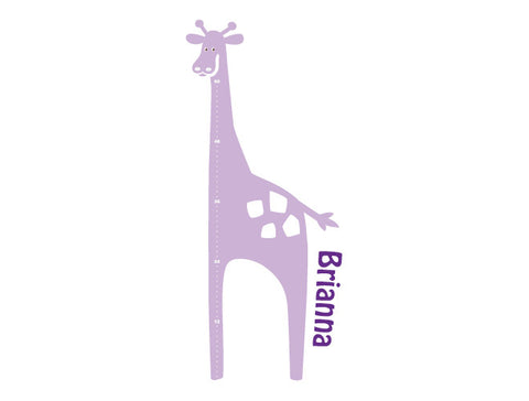 Giraffe Wall Decal Growth Chart - Girl