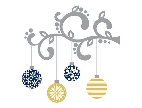Hanging Ornament Wall Decal