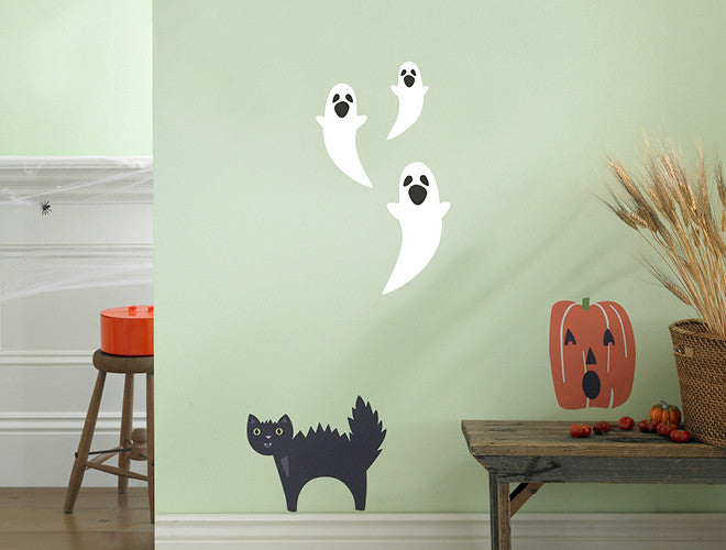 Halloween Scary Cat Wall Decal