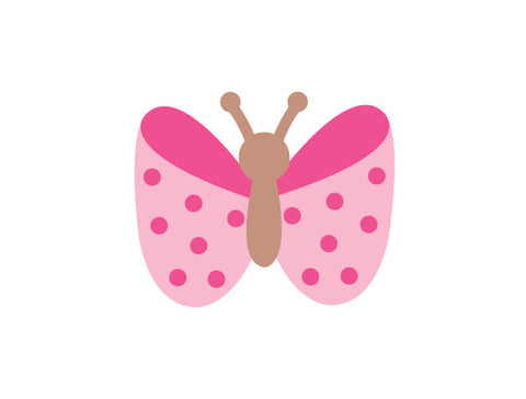 Polka Dot Butterfly Wall Decal