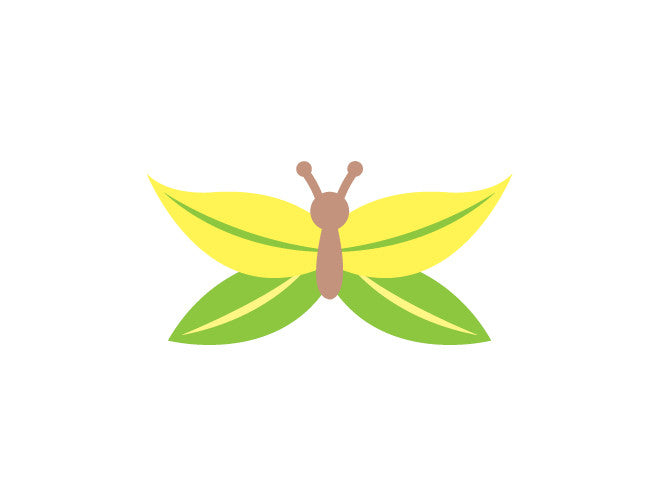 Leaf Butterfly Wall Decal