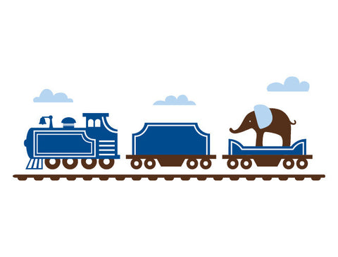 Animal Train Engine Wall Decal