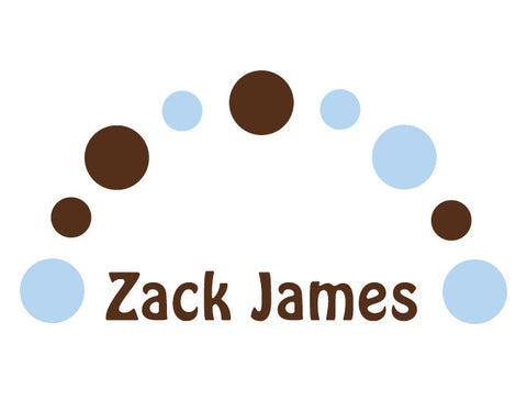 Personalized Dot Arch Wall Decal