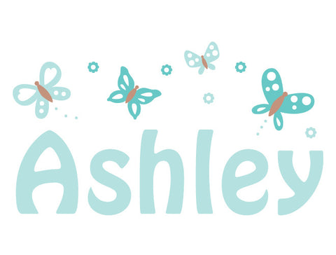Personalized Butterfly Sky Wall Decal