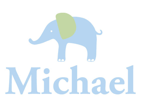 Personalized Elephant Wall Decal